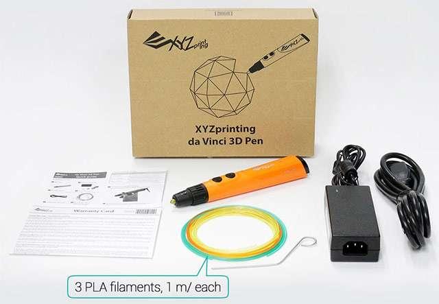 XYZ Printing da Vinci 3D Pen: il contenuto della confezione