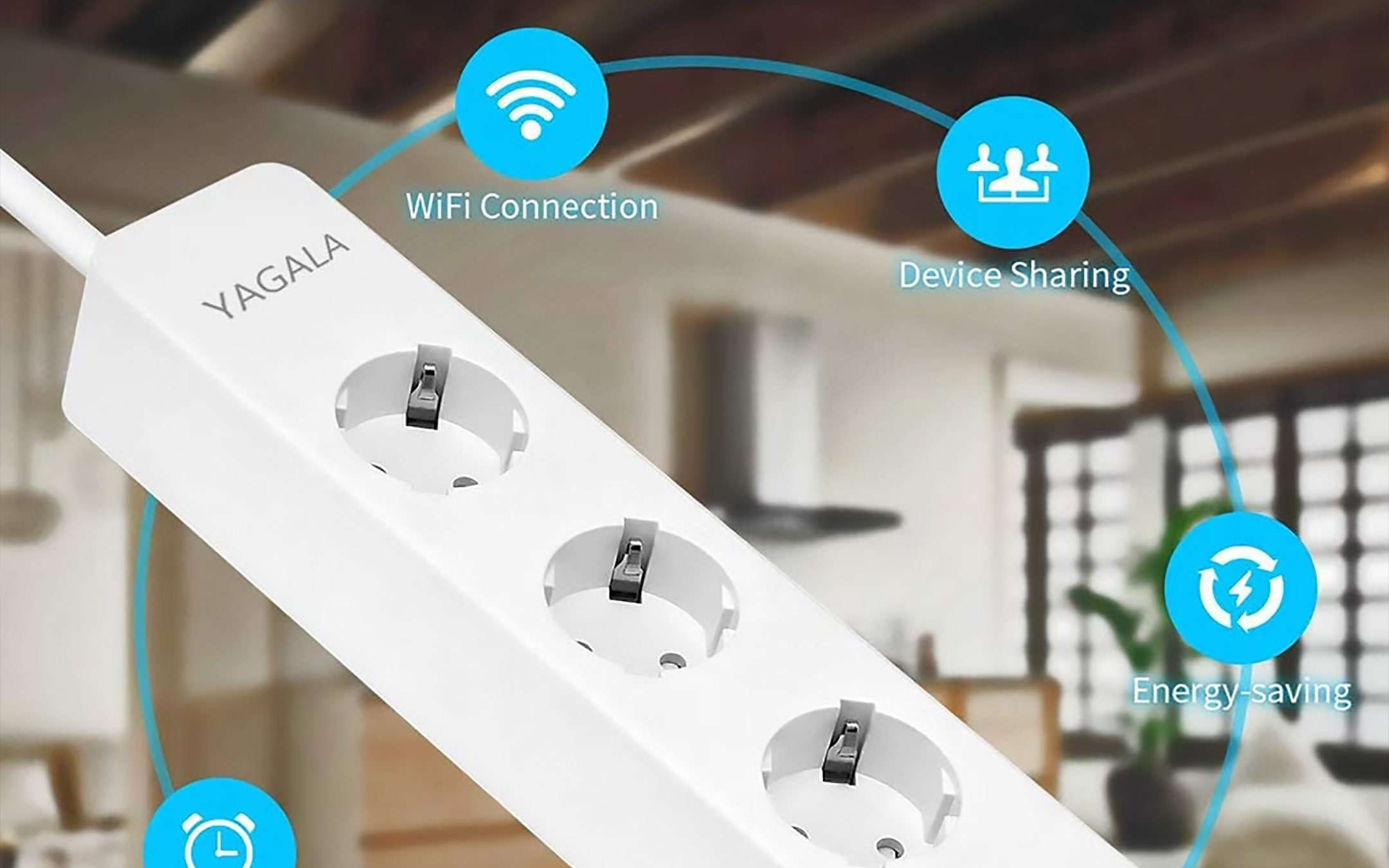 La multipresa smart di YAGALA compatibile con Alexa e Assistente Google