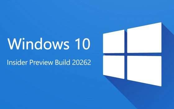 Windows 10: la Preview Build 20262 agli Insider