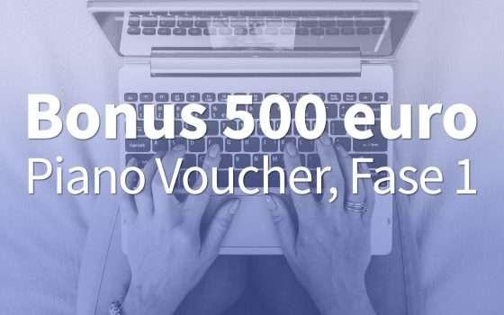 Bonus 500 euro: Piano Voucher al via il 9 novembre