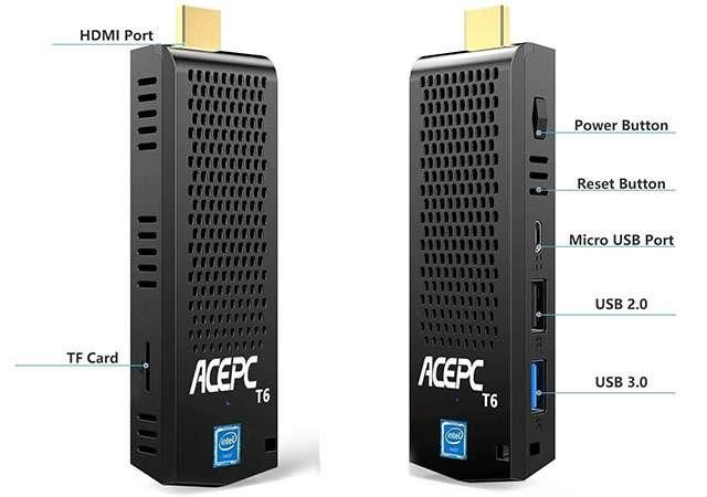 ACEPC T6, Mini PC Stick con processore Intel