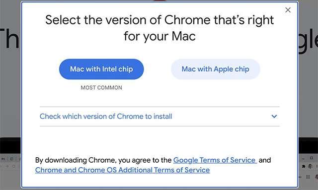 La versione di Chrome per i nuovi Mac con Apple M1