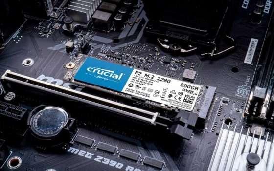 Crucial P2: SSD NVMe da 500 GB al prezzo più basso