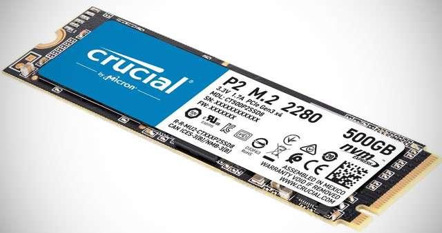 La SSD interna Crucial P2 da 500 GB