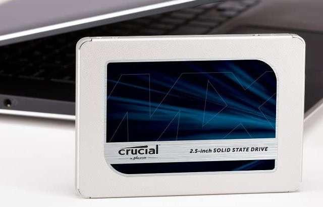 La SSD di Crucial da 500 GB della serie MX500