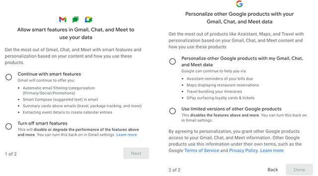 Le novità di Google per Gmail e funzionalità smart