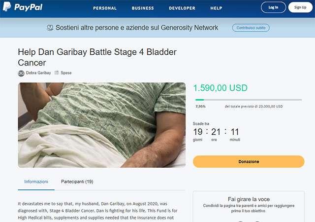 La piattaforma Generosity Network di PayPal per le raccolte fondi