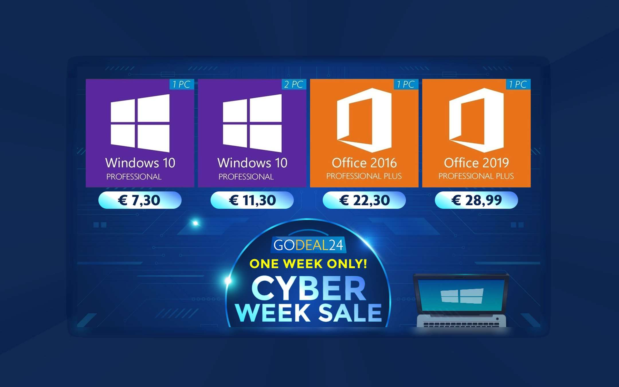 Cyber ​​Monday, up to 95% off these Microsoft licenses