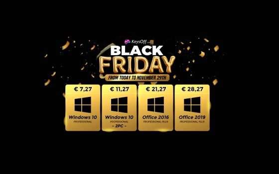 Windows 10 a 5€ per il Black Friday Keysoff: tutti gli sconti