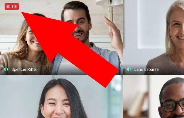 Google Meet: il contatore degli utenti collegati a una riunione