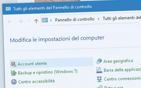 Windows 10: addio al Pannello di Controllo?