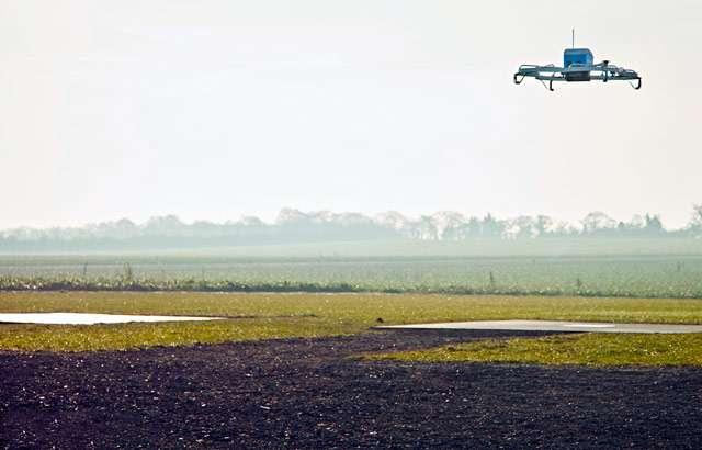 Il drone del progetto Amazon Prime Air per le consegne