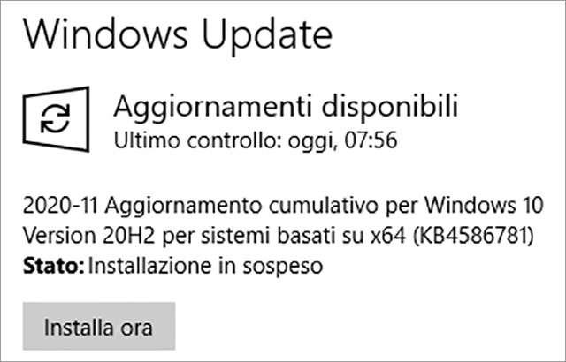 Windows 10 riceve il Patch Tuesday di novembre