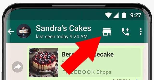 Il pulsante Shopping su WhatsApp