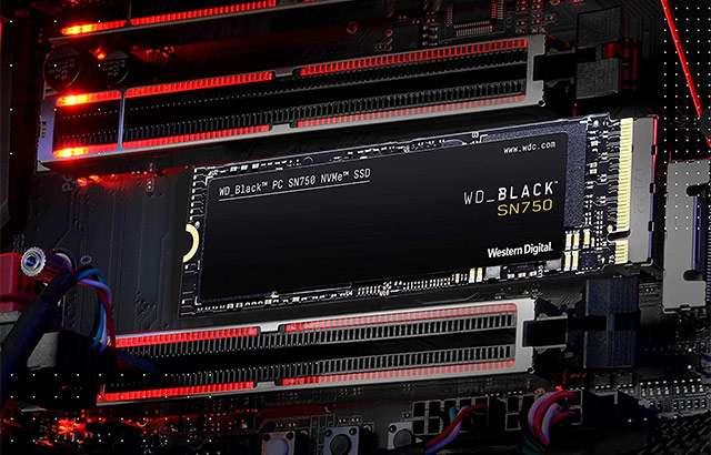 Western Digital Black SN750 NVMe SSD da 1 TB