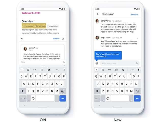 Il nuovo sistema di commenti per Google Workspace