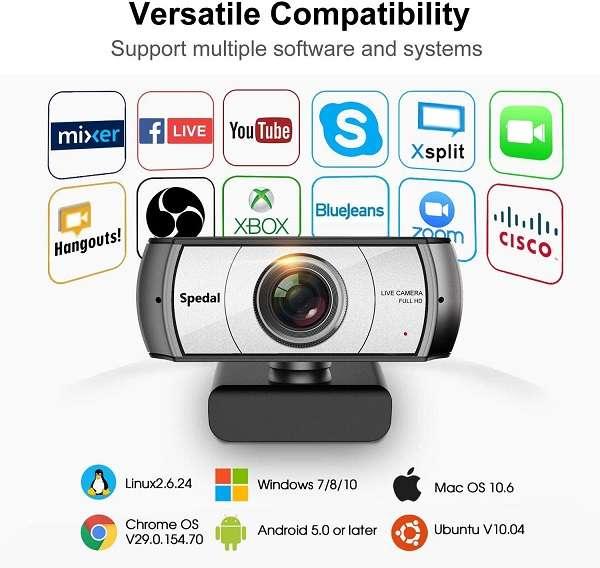 Webcam Spedal Full HD OBS - 2