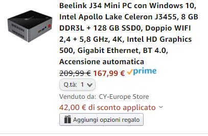 Sconto per Mini PC Beelink
