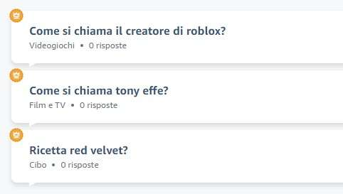 Le domande di Alexa Answer