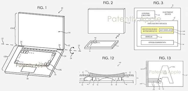 Il brevetto Apple per la tastiera dei MacBook: ogni pulsante un display
