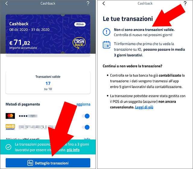 IO e Cashback di Stato: anomalia nell'app IO