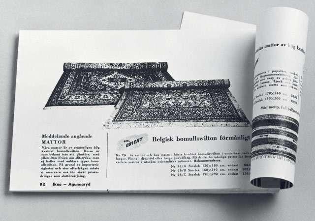 Uno dei primi cataloghi nella storia di IKEA