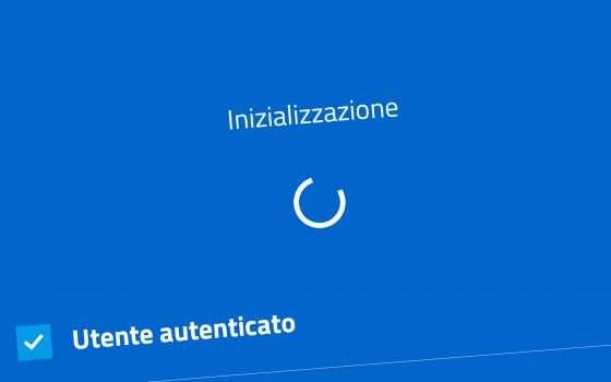 IO: l'app non carica, bloccata su Inizializzazione
