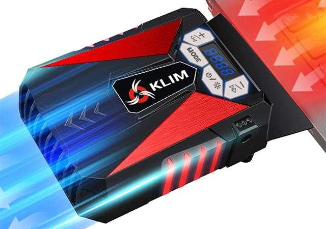 Il dispositivo KLIM Cool per il raffreddamento del laptop