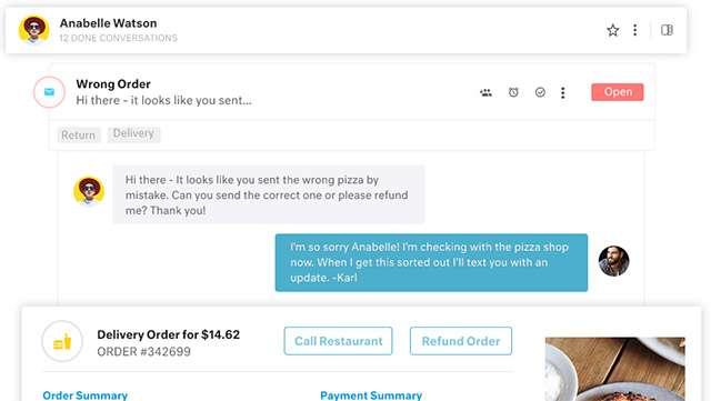 La piattaforma di Kustomer per gestire le conversazioni con i clienti