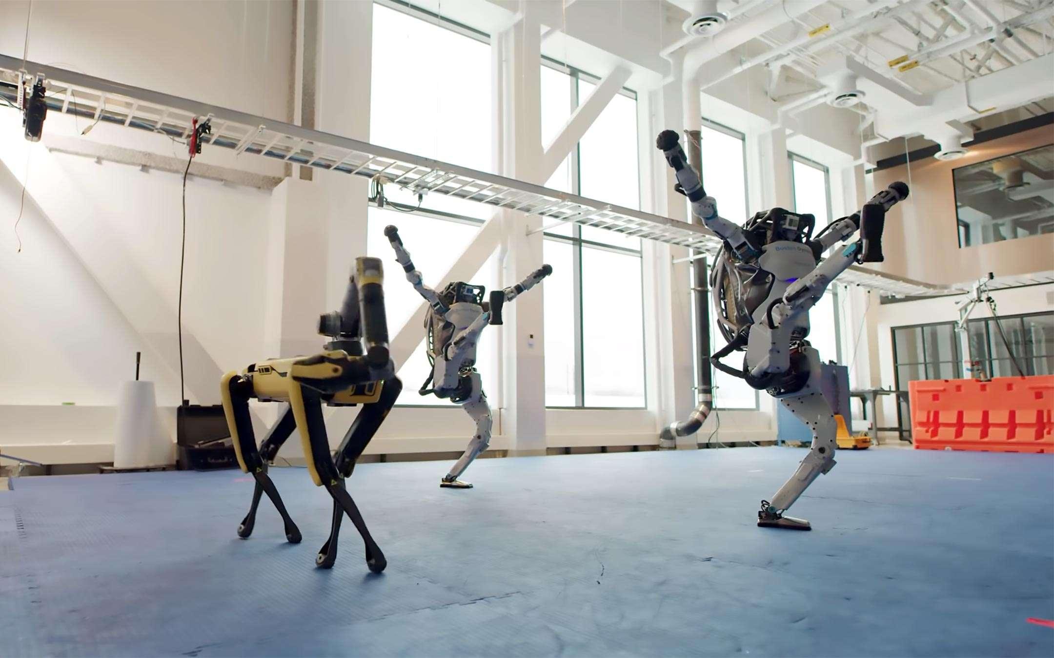 Boston Dynamics robots dance for 2021