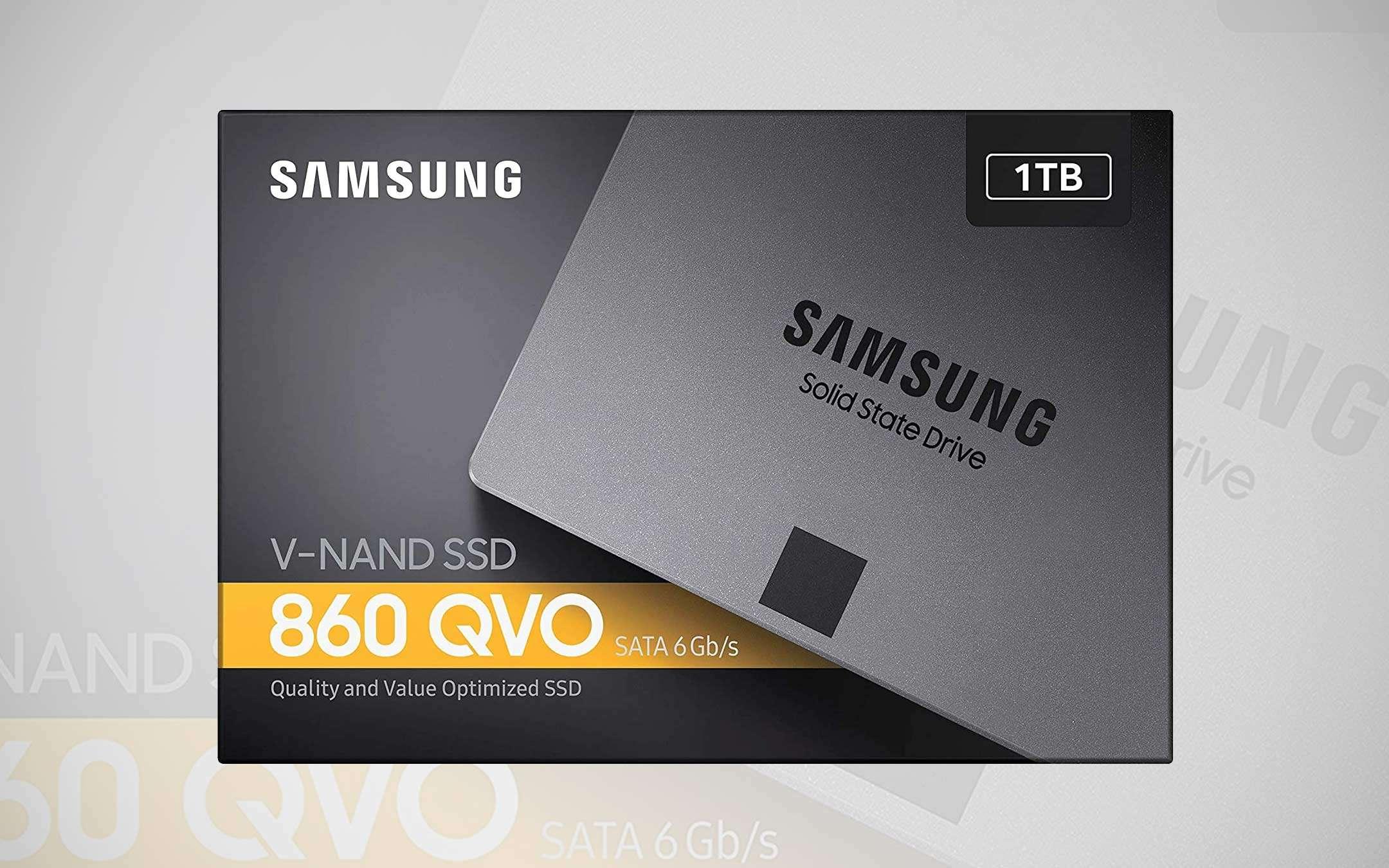 Samsung SSD 1 TB (860 QVO), discount -38%: a bargain