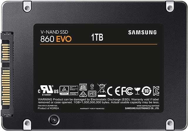 La SSD di Samsung (serie 860 EVO) da 1 TB