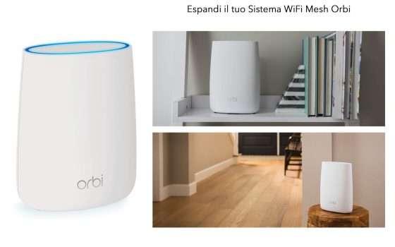 Wi-Fi mesh Netgear Orbi triband scontato di 70 euro