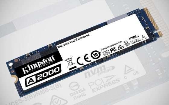 Kingston A2000: SSD da 500 GB e 1 TB in offerta