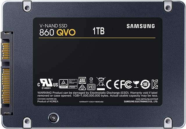 La SSD di Samsung (serie 860 QVO) da 1 TB