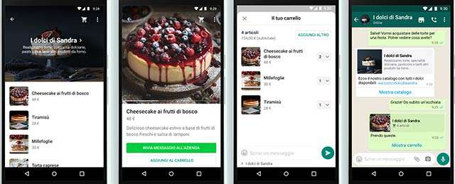 WhatsApp Business: il carrello per lo shopping