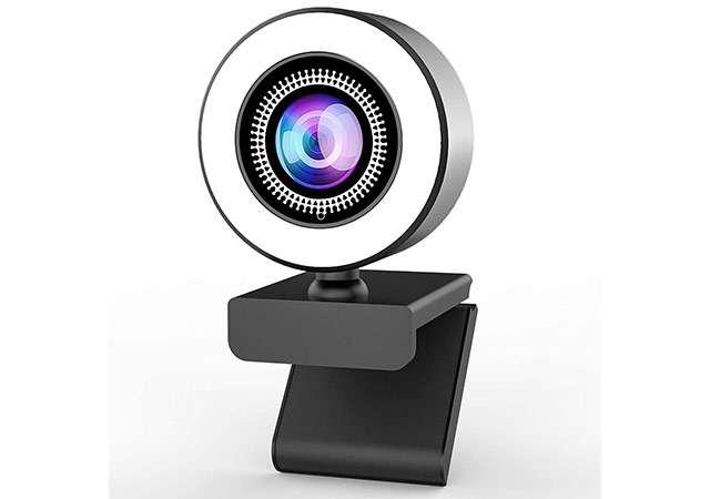 La webcam 2K con luce regolabile di OVIFM