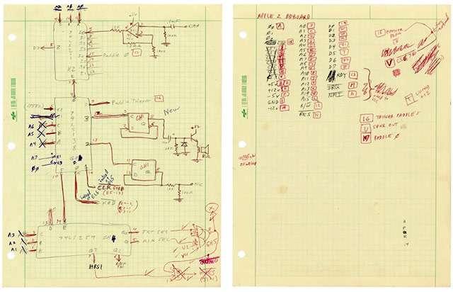 Gli schermi di Woz per il prototipo di Apple II