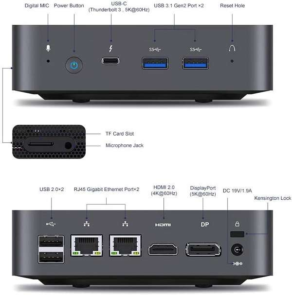 Mini PC Minis Forum X35G - 1