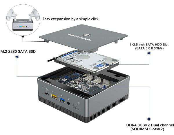 Mini PC Minis Forum UM250 - 1