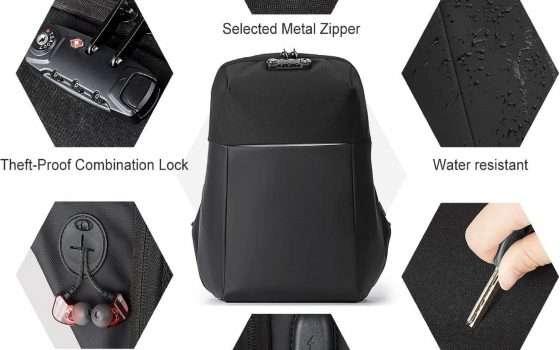Zaino per laptop: porta USB e impermeabilità a soli 31€