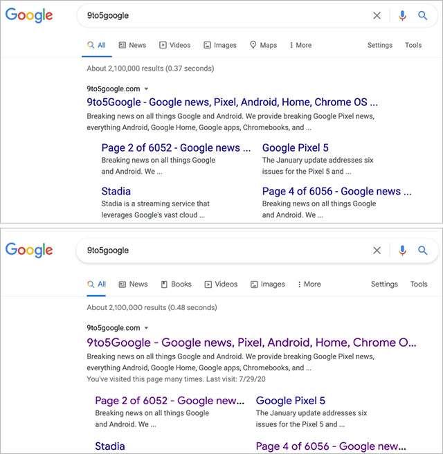 Il restyling dell'interfaccia per il motore di ricerca desktop di Google