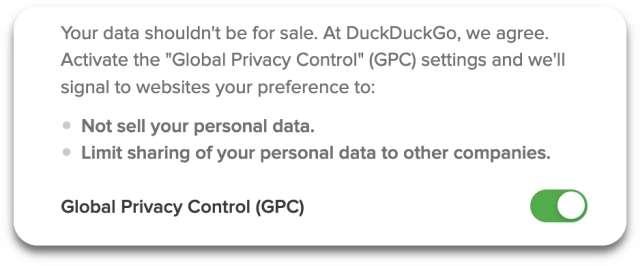 DuckDuckGo GPC