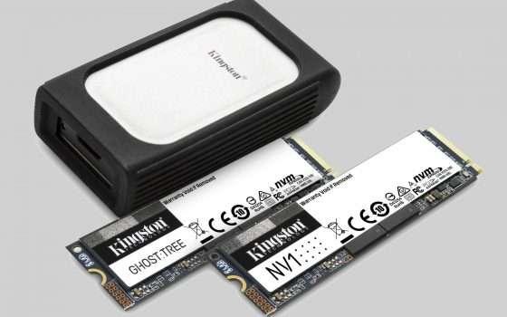 CES 2021: Kingston presenta nuovi SSD fino a 4 TB