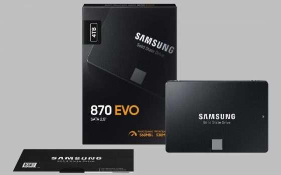 Samsung SSD 870 EVO, massima velocità a basso prezzo