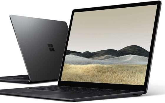 Surface Laptop 3, sconto di 350 euro su Amazon