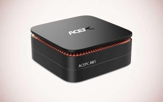 ACEPC AK1: Mini PC con CPU Intel e W10 Pro a -20%