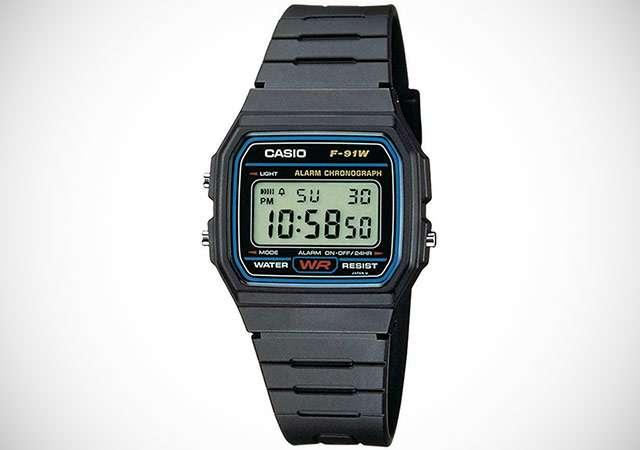 L'orologio digitale CASIO F-91W