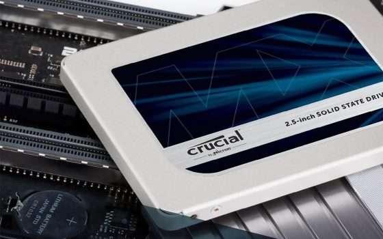 SSD Crucial MX500 da 1 TB oggi in sconto su Amazon