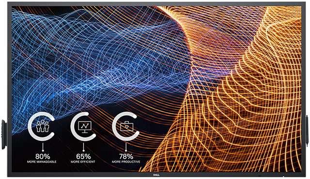 Lo schermo Dell 65 4K Interactive Touch Monitor